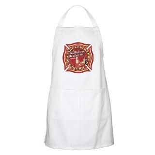 Patriotic Fire Fighter Pinup Girl BBQ Apron