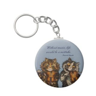 Louis Wain   A Gift for Cat Lovers keychains by AnthroAnimals