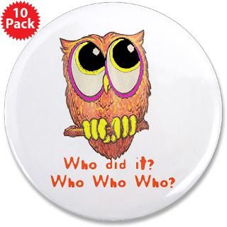 Owl Who did it?  Funny Animal T Shirts