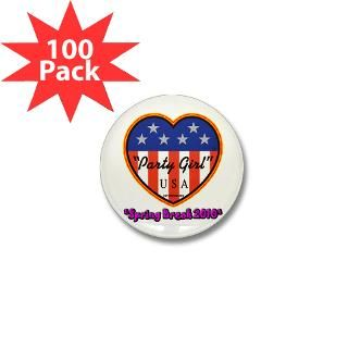Party Girl USA Spring Break Mini Button (100 pack)