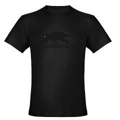 rex hates pushups Mens Fitted T Shirt (dark)