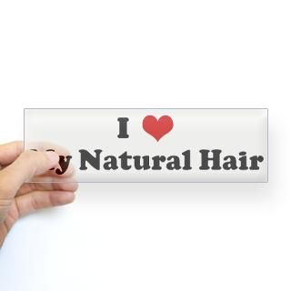 Love My Natural Hair Stickers  Car Bumper Stickers, Decals