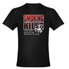 Smoking KillsMens Fitted T Shirt (dark)