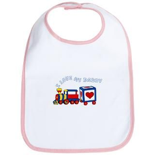 Dad Gifts  Dad Baby Bibs  Love Daddy Train Bib