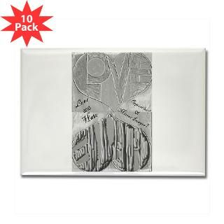 Love/Hate Mirror Image Rectangle Magnet (10 pack)
