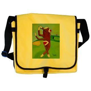 Golf Sock Monkey Messenger Bag