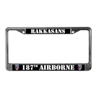 187th ABN Rakkasans License Plate Frame  187th ABN Bumper Stickers