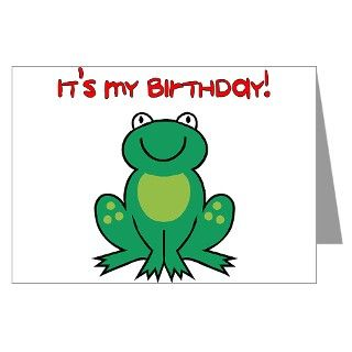 > Baby Greeting Cards > Frog Birthday Party Invitations (Pk of 10