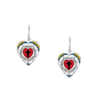 Christian Gifts  Christian Jewelry  Luthers Rose Earring Heart