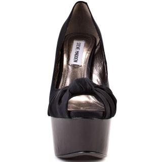 Steve Maddens Black Erykka   Black Satin for 99.99
