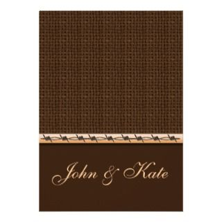 Burlap and Barbed Wire Western Wedding Invitation