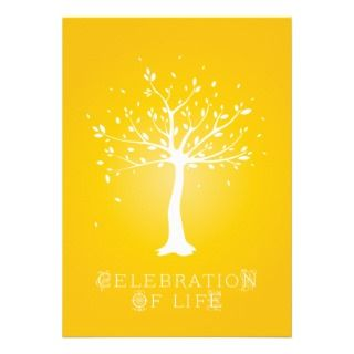 Celebration of Life   Custom   Elegant Tree Motif Invite