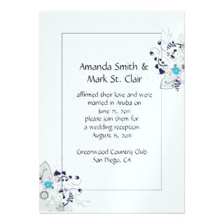 Abstract Purple Silver Flowers Post Wedding Announcements