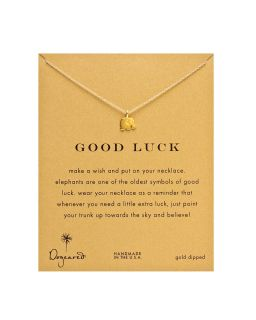 Dogeared Gold Good Luck Elephant Necklace, 18
