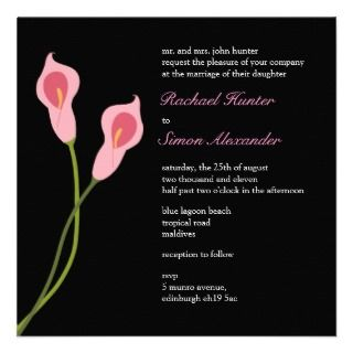Wedding Invitiation  black Personalized Invitations