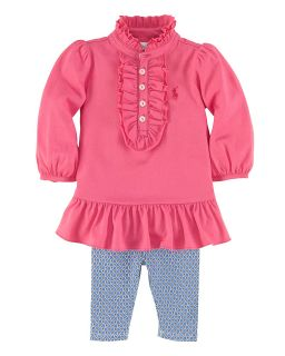 girls ruffle tunic legging set sizes 3 9 months orig $ 55 00 sale $ 33