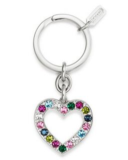 coach legacy heart pave key ring price $ 48 00 color multi silver