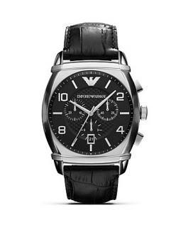 Emporio Armani Large Round Black Watch, 54mm
