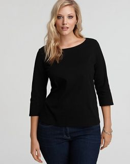 eileen fisher plus size boatneck tee price $ 68 00 color black size