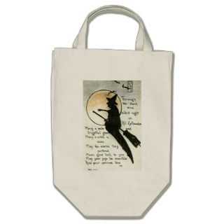 Halloween Witch / Witches Quote / Poem / Spell Canvas Bag