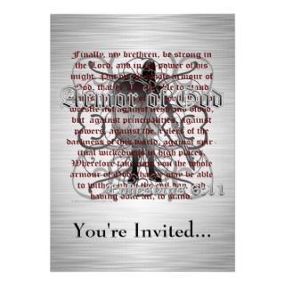 Armor of God Invitation