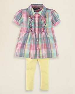 Ralph Lauren Childrenswear Infant Girls Madras Tunic & Legging Set