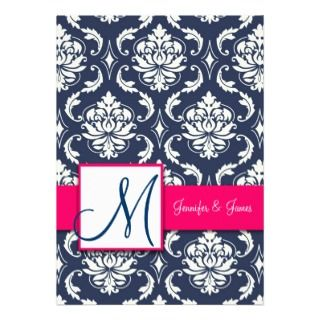 invitation customize with your monogram names and wedding invitation