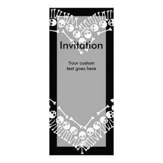Pretty Skull Heart Invitations