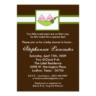 pea in pod baby shower invitation is an adorable way to invite your