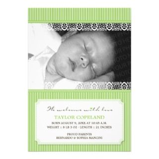 Welcome With Love Modern Baby Birth Announcement