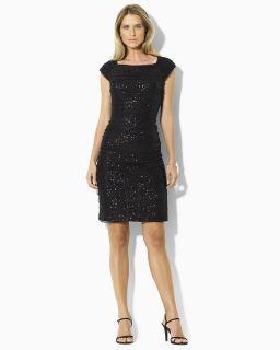 lauren ralph lauren sequin cap sleeve dress orig $ 210 00 sale $ 126