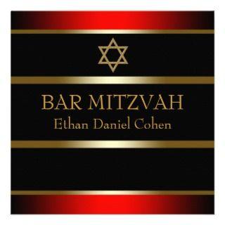 red black bar mitzvah invitation black gold bar mitzvah invitations