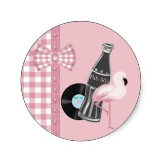 Buttons and Bows Rock & Roll Sticker
