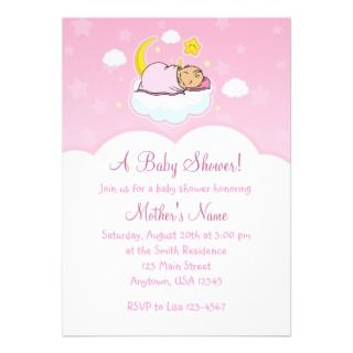 Baby Girl Baby Shower Invitations invitations by BlankCustomEnvelopes