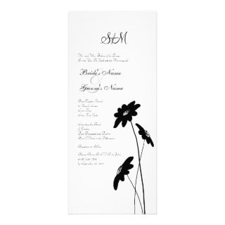 Yellow and Gray Wildflowers Wedding Invitation
