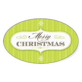 Vintage Stripes One Merry Christmas Personalized Photo Card