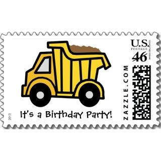 Cartoon Clip Art Dump Truck Birthday Party! stamps by kidsclipart
