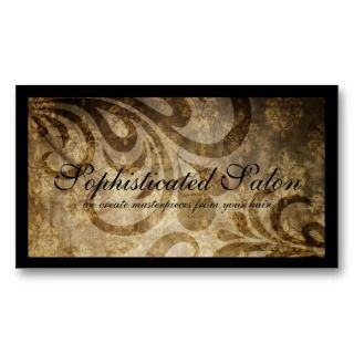 Classy Sophisticated Designer Salon Business Cards