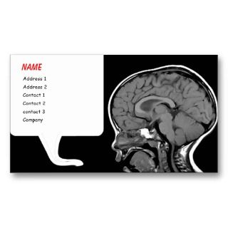 no scientist) with these quirky MRI speech bubble business cards