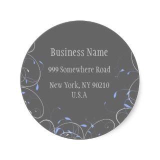 Elegant Business Return Address Labels Stickers