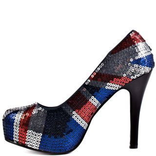 Iron Fists Multi Color Jacked Up Platform   Blue for 69.99