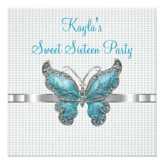Butterfly Sweet 16th Birthday Party invitations by InvitationCentral
