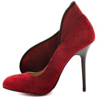 Paris Hiltons Red Cheyanne   Wine Suede for 109.99