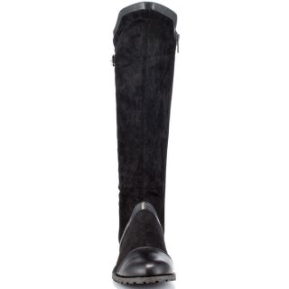 Michael Antonios Black Bardot Glt   Black Suede PU for 89.99