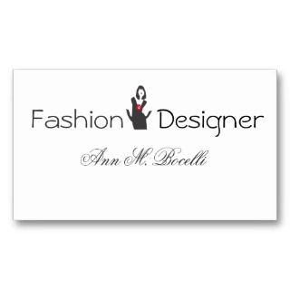 Fashion Designer Consultant Business Card Template: fashion design consultant