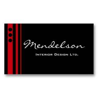 Red Trio Deco Design Company Business Card
