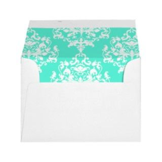 to our mint green and white damask wedding invitations see link below