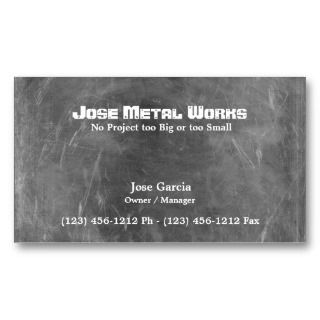Custom Metal Works Business Card Templates