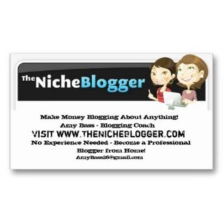 The Niche Blogger Cards Business Card Template