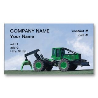 forestry skidder business card